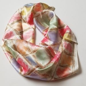 Talbots 100% Silk  Multicolored Scarf